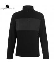 Кофта Pierre Cardin флісова - чорно коричнева
