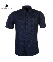 Сорочка Pierre Cardin темно-синя літня